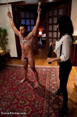Photo number 7 from Maitresse Madeline cuckolds her boyfriend with a woman! shot for Divine Bitches on Kink.com. Featuring Gia DiMarco, Maitresse Madeline Marlowe  and Gianni Luca in hardcore BDSM & Fetish porn.