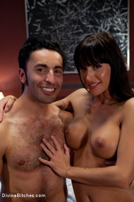 Photo number 8 from Maitresse Madeline cuckolds her boyfriend with a woman! shot for Divine Bitches on Kink.com. Featuring Gia DiMarco, Maitresse Madeline Marlowe  and Gianni Luca in hardcore BDSM & Fetish porn.