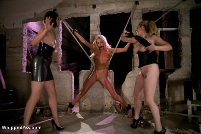 Photo number 6 from All natural blonde beauty double penetrated for the first time in her life! shot for Whipped Ass on Kink.com. Featuring Bobbi Starr, Aiden Starr and Victoria White in hardcore BDSM & Fetish porn.