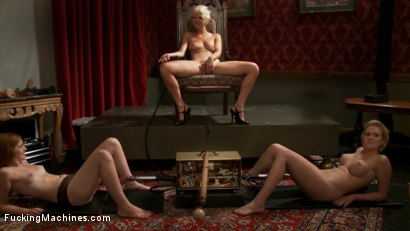 Photo number 2 from ROUND 2: <br> Pussy Fight: The Most Ruthless of Orgasm Denial shot for Fucking Machines on Kink.com. Featuring Chloe Camilla, Devon Taylor  and Lizzy Rose in hardcore BDSM & Fetish porn.