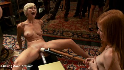 Photo number 7 from ROUND 2: <br> Pussy Fight: The Most Ruthless of Orgasm Denial shot for Fucking Machines on Kink.com. Featuring Chloe Camilla, Devon Taylor  and Lizzy Rose in hardcore BDSM & Fetish porn.