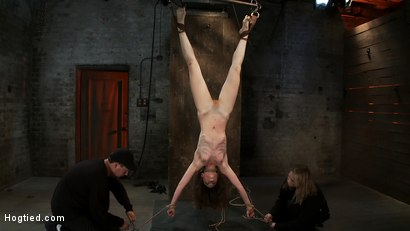 Photo number 2 from Girl next door put upside down, severely flogged & made to cum<br>On screen tying and real BDSM play shot for Hogtied on Kink.com. Featuring Seda and Rain DeGrey in hardcore BDSM & Fetish porn.