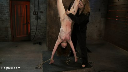 Photo number 6 from Girl next door put upside down, severely flogged & made to cum<br>On screen tying and real BDSM play shot for Hogtied on Kink.com. Featuring Seda and Rain DeGrey in hardcore BDSM & Fetish porn.
