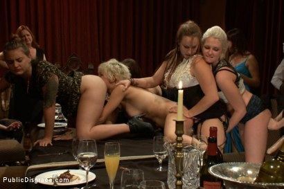 Photo number 15 from The Dinner Party shot for Public Disgrace on Kink.com. Featuring Chloe Camilla in hardcore BDSM & Fetish porn.