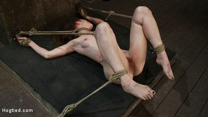 Photo number 1 from Made to Squirt! Made to Deep Throat!<br>Flogged until her body and ass are marked and bright red! shot for Hogtied on Kink.com. Featuring Seda and Rain DeGrey in hardcore BDSM & Fetish porn.