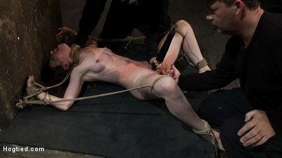 Photo number 5 from Made to Squirt! Made to Deep Throat!<br>Flogged until her body and ass are marked and bright red! shot for Hogtied on Kink.com. Featuring Seda and Rain DeGrey in hardcore BDSM & Fetish porn.