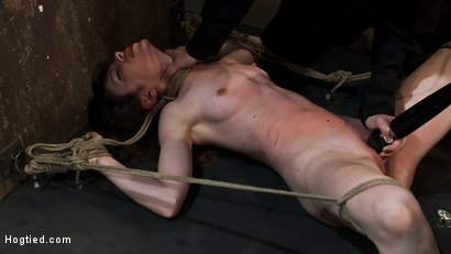 Photo number 6 from Made to Squirt! Made to Deep Throat!<br>Flogged until her body and ass are marked and bright red! shot for Hogtied on Kink.com. Featuring Seda and Rain DeGrey in hardcore BDSM & Fetish porn.