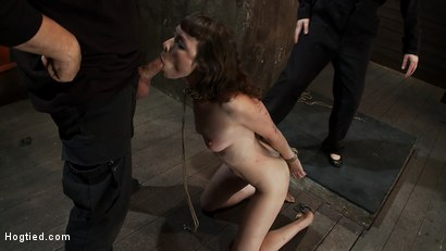 Photo number 8 from Made to Squirt! Made to Deep Throat!<br>Flogged until her body and ass are marked and bright red! shot for Hogtied on Kink.com. Featuring Seda and Rain DeGrey in hardcore BDSM & Fetish porn.