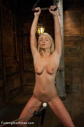 Photo number 5 from Porn Obstacle Course for Hot Amateur: Zipline of Vibrators, Spanking Sybian Ride, Wet Pussy Pounding shot for Fucking Machines on Kink.com. Featuring Lexi Swallow in hardcore BDSM & Fetish porn.