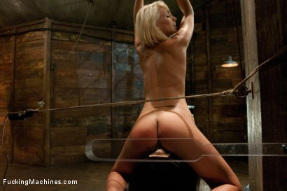 Photo number 7 from Porn Obstacle Course for Hot Amateur: Zipline of Vibrators, Spanking Sybian Ride, Wet Pussy Pounding shot for Fucking Machines on Kink.com. Featuring Lexi Swallow in hardcore BDSM & Fetish porn.