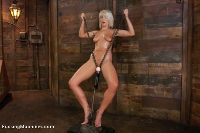 Photo number 2 from Who can Resist a Hot Blond Machine fucked in Chains?  shot for Fucking Machines on Kink.com. Featuring Lexi Swallow in hardcore BDSM & Fetish porn.