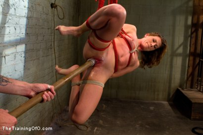 Photo number 6 from Ariel X Suffers Beautifully in Tight Bondage and Intense Torture shot for The Training Of O on Kink.com. Featuring Ariel X and The Pope in hardcore BDSM & Fetish porn.