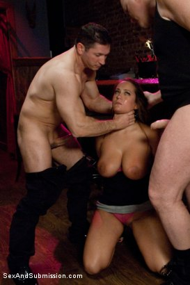 Photo number 5 from The Debt Collectors III shot for Sex And Submission on Kink.com. Featuring Mark Davis, Trina Michaels and John Strong in hardcore BDSM & Fetish porn.