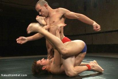 Photo number 2 from Nikko Alexander vs Jake Austin shot for nakedkombat on Kink.com. Featuring Chris Tyler and Jake Austin in hardcore BDSM & Fetish porn.
