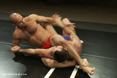 Photo number 2 from Alessio Romero vs Leo Forte <br> The Oil Match shot for Naked Kombat on Kink.com. Featuring Alessio Romero and Leo Forte in hardcore BDSM & Fetish porn.