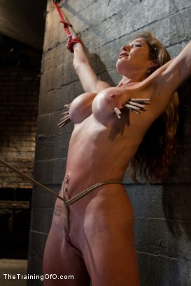 Photo number 15 from Hard Bodied Slut, Felony, is Torn Apart   During a Long Day of Brutal Torment shot for The Training Of O on Kink.com. Featuring Felony and The Pope in hardcore BDSM & Fetish porn.
