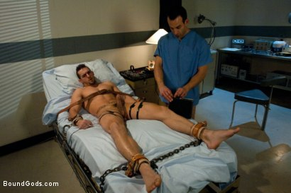 Photo number 6 from Psycho Ward shot for Bound Gods on Kink.com. Featuring Phenix Saint and Jason Miller in hardcore BDSM & Fetish porn.