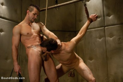 Photo number 9 from Psycho Ward shot for Bound Gods on Kink.com. Featuring Phenix Saint and Jason Miller in hardcore BDSM & Fetish porn.