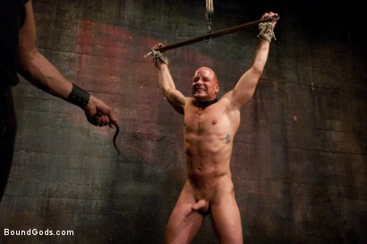 Photo number 6 from You can't hurt me with that, Sir. <br> Live Shoot shot for Bound Gods on Kink.com. Featuring Chad Rock, Vince Ferelli, Brenn Wyson and Van Darkholme in hardcore BDSM & Fetish porn.