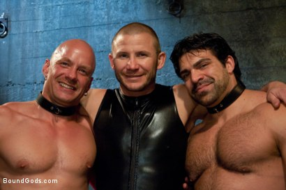 Photo number 15 from You can't hurt me with that, Sir. <br> Live Shoot shot for Bound Gods on Kink.com. Featuring Chad Rock, Vince Ferelli, Brenn Wyson and Van Darkholme in hardcore BDSM & Fetish porn.