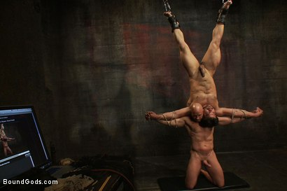 Photo number 7 from You can't hurt me with that, Sir. <br> Live Shoot shot for Bound Gods on Kink.com. Featuring Chad Rock, Vince Ferelli, Brenn Wyson and Van Darkholme in hardcore BDSM & Fetish porn.