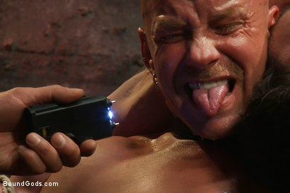 Photo number 8 from You can't hurt me with that, Sir. <br> Live Shoot shot for Bound Gods on Kink.com. Featuring Chad Rock, Vince Ferelli, Brenn Wyson and Van Darkholme in hardcore BDSM & Fetish porn.