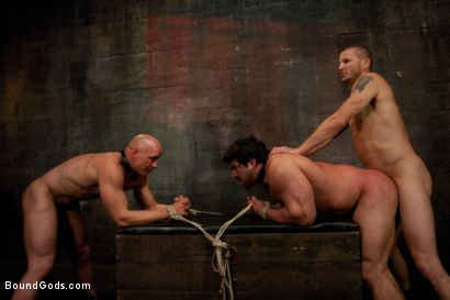 Photo number 14 from You can't hurt me with that, Sir. <br> Live Shoot shot for Bound Gods on Kink.com. Featuring Chad Rock, Vince Ferelli, Brenn Wyson and Van Darkholme in hardcore BDSM & Fetish porn.