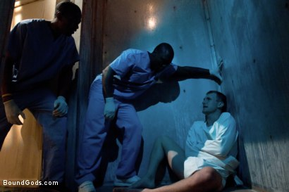 Photo number 1 from Disorderly Orderlies  shot for Bound Gods on Kink.com. Featuring Cameron Adams, Scott Alexander and Jack Hammer in hardcore BDSM & Fetish porn.
