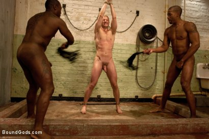 Photo number 6 from Disorderly Orderlies  shot for Bound Gods on Kink.com. Featuring Cameron Adams, Scott Alexander and Jack Hammer in hardcore BDSM & Fetish porn.