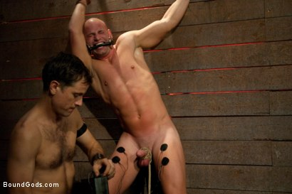 Photo number 10 from Taste of Leather shot for Bound Gods on Kink.com. Featuring Patrick Rouge and Master Avery in hardcore BDSM & Fetish porn.