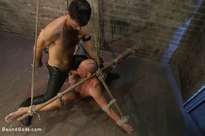 Photo number 5 from Taste of Leather shot for Bound Gods on Kink.com. Featuring Patrick Rouge and Master Avery in hardcore BDSM & Fetish porn.