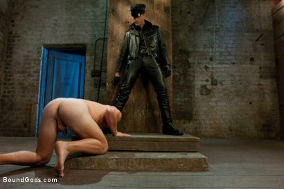 Photo number 3 from Taste of Leather shot for Bound Gods on Kink.com. Featuring Patrick Rouge and Master Avery in hardcore BDSM & Fetish porn.