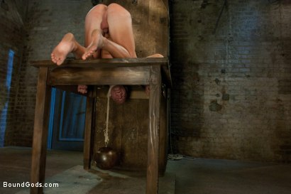 Photo number 9 from Taste of Leather shot for Bound Gods on Kink.com. Featuring Patrick Rouge and Master Avery in hardcore BDSM & Fetish porn.