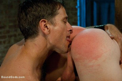 Photo number 7 from Taste of Leather shot for Bound Gods on Kink.com. Featuring Patrick Rouge and Master Avery in hardcore BDSM & Fetish porn.
