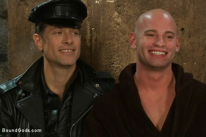 Photo number 15 from Taste of Leather shot for Bound Gods on Kink.com. Featuring Patrick Rouge and Master Avery in hardcore BDSM & Fetish porn.