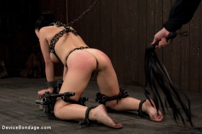 Photo number 6 from Q:  Who thinks the smell of chain is hot? shot for Device Bondage on Kink.com. Featuring Angelica Raven in hardcore BDSM & Fetish porn.