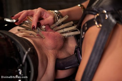 """Photo number 7 from Examining The Teachers Pet: Episode 4 """"The Eastern European Dominatrix"""" shot for Divine Bitches on Kink.com. Featuring Zak Tyler and Nika Noire in hardcore BDSM & Fetish porn."""