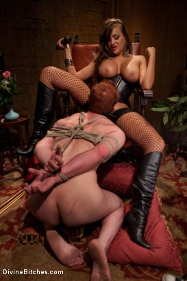 """Photo number 8 from Examining The Teachers Pet: Episode 4 """"The Eastern European Dominatrix"""" shot for Divine Bitches on Kink.com. Featuring Zak Tyler and Nika Noire in hardcore BDSM & Fetish porn."""