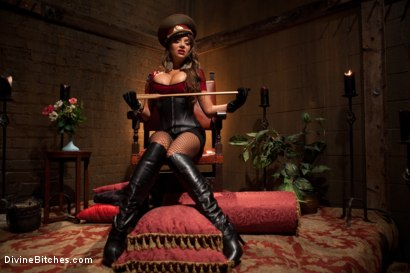 "Photo number 12 from Examining The Teachers Pet: Episode 4 ""The Eastern European Dominatrix"" shot for Divine Bitches on Kink.com. Featuring Zak Tyler and Nika Noire in hardcore BDSM & Fetish porn."