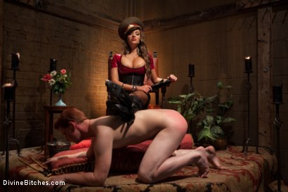 "Photo number 14 from Examining The Teachers Pet: Episode 4 ""The Eastern European Dominatrix"" shot for Divine Bitches on Kink.com. Featuring Zak Tyler and Nika Noire in hardcore BDSM & Fetish porn."