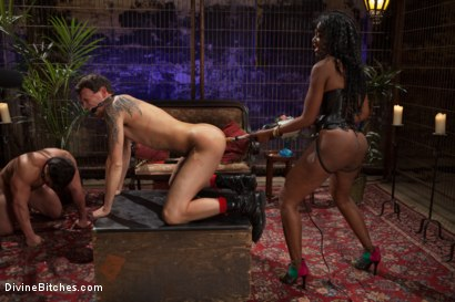 Photo number 6 from If Only You Would Have Made My Pussy Purrrrrrrrrr shot for divinebitches on Kink.com. Featuring Derrick P., Nyomi Banxxx and Vince Ferelli in hardcore BDSM & Fetish porn.