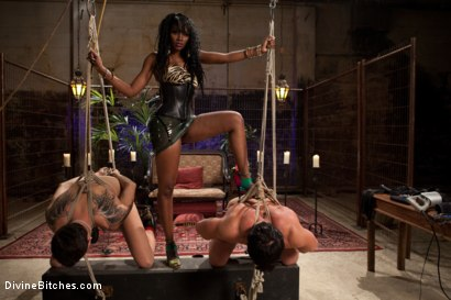 Photo number 9 from If Only You Would Have Made My Pussy Purrrrrrrrrr shot for Divine Bitches on Kink.com. Featuring Derrick P., Nyomi Banxxx and Vince Ferelli in hardcore BDSM & Fetish porn.