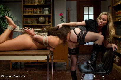 Photo number 15 from 20 year old double fisted for the first time! shot for Whipped Ass on Kink.com. Featuring Jynx Maze and Aiden Starr in hardcore BDSM & Fetish porn.