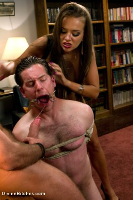 Photo number 6 from Sadistic wife cuckolds husband with tantric sex specialist. shot for Divine Bitches on Kink.com. Featuring Nika Noire, Josh West and Vern Hopkins in hardcore BDSM & Fetish porn.