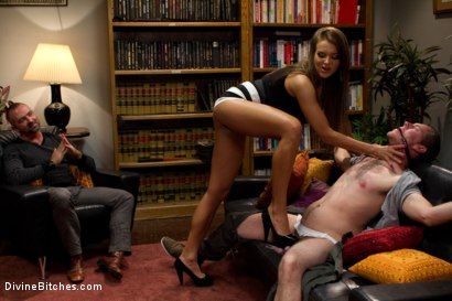 Photo number 3 from Sadistic wife cuckolds husband with tantric sex specialist. shot for Divine Bitches on Kink.com. Featuring Nika Noire, Josh West and Vern Hopkins in hardcore BDSM & Fetish porn.