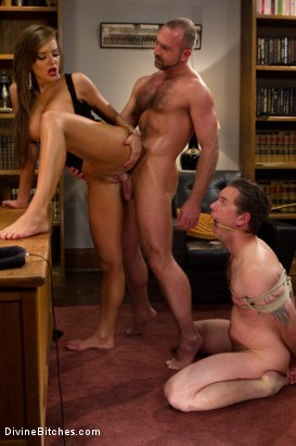 Photo number 7 from Sadistic wife cuckolds husband with tantric sex specialist. shot for Divine Bitches on Kink.com. Featuring Nika Noire, Josh West and Vern Hopkins in hardcore BDSM & Fetish porn.