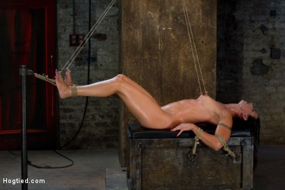 Photo number 13 from Extreme Predicament Bondage   Huge Nipples Tied to Toes, How Long Can the Abs Hold Out? shot for Hogtied on Kink.com. Featuring Wenona in hardcore BDSM & Fetish porn.