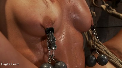 Photo number 10 from Gymnast, fitness model has her flexibility put to the test.<br>Made to cum until she is a sweaty pig shot for Hogtied on Kink.com. Featuring Wenona in hardcore BDSM & Fetish porn.
