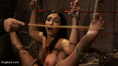 Photo number 6 from Gymnast, fitness model has her flexibility put to the test.<br>Made to cum until she is a sweaty pig shot for Hogtied on Kink.com. Featuring Wenona in hardcore BDSM & Fetish porn.