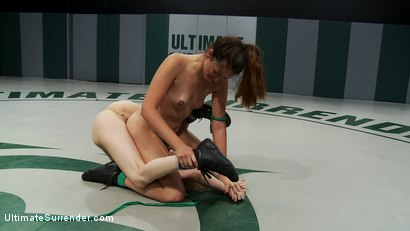 Photo number 8 from Sexy tiny blond get her ass kicked.<br> Then gets her ass fucked.<br> Losing has consequences! shot for Ultimate Surrender on Kink.com. Featuring Allie Haze and Ashley Jane in hardcore BDSM & Fetish porn.